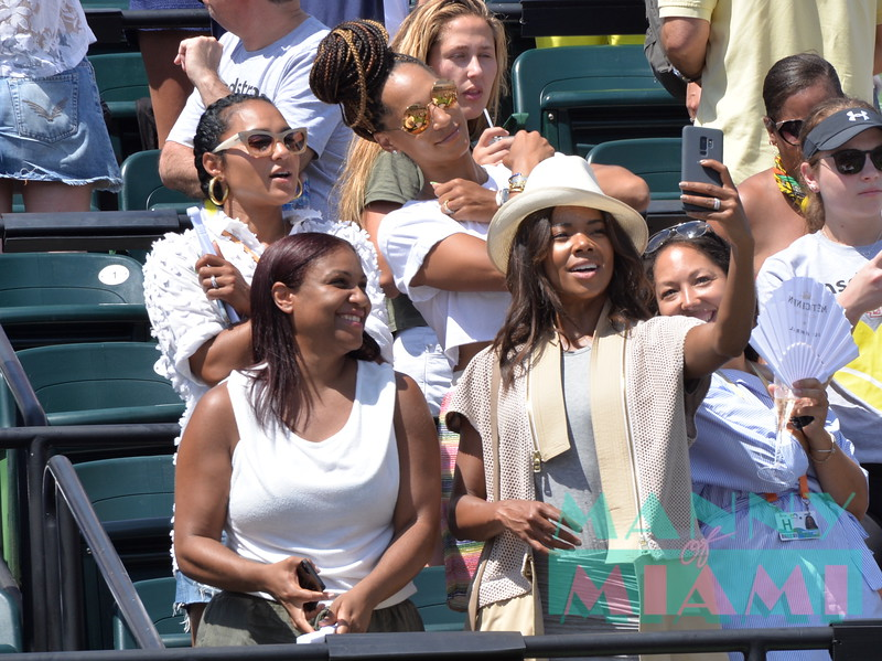 Celebrities at the Miami Open 2018