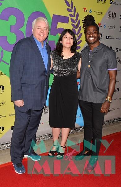 Dennis Scholl, Fabiola Rodriguez,  Director Edson Jean