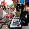 Record-Eagle/Keith King<br /> An device which is part of the timing system lies near the starting line prior to the start of the 30th annual Bayshore Marathon Saturday, May 26, 2012 at Northwestern Michigan College.