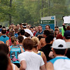 Record-Eagle/Keith King<br /> Spectators look on and cheer as runners begin the 30th annual Bayshore Marathon Saturday, May 26, 2012 at Northwestern Michigan College.