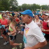 Record-Eagle/Keith King<br /> Runners begin the 30th annual Bayshore Marathon Saturday, May 26, 2012 at Northwestern Michigan College.