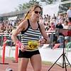 Record-Eagle/Keith King<br /> Tasha O'Malley finishes first in the 30th annual Bayshore Marathon womens half marathon Saturday, May 26, 2012 at Traverse City Central High School.