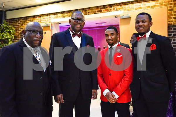 H.Q. Dickerson, Bishop Bobby R. Best, Damon Mays and Malcolm Patton pose for a photo during Texas College's ninth annual Legacy Scholarship Fundraiser at Harvey Hall Convention Center in Tyler, Texas, on Friday, March 10, 2017. Five members of the community were honored for their commitment, dedication and service to Texas College and the City of Tyler. (Chelsea Purgahn/Tyler Morning Telegraph)