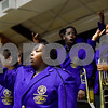 Texas College band members sing their alma mater during the Texas College Founders' Convocation at Texas College in Tyler, Texas, on Friday, March 16, 2018. The event celebrated 124 years of the college and featured special speakers and music performances. (Chelsea Purgahn/Tyler Morning Telegraph)