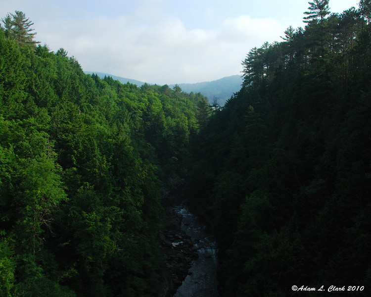 Looking North into Quechee Gorge from the bridge crossing it