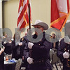 Officers post the colors at the annual Smith County Sheriff's Office Awards Dinner at Green Acres Baptist Church in Tyler, Texas, on Tuesday, March 20, 2018. This annual event gives Sheriff Larry Smith the opportunity to spotlight outstanding examples of leadership and excellence in the Sheriff's Office's employees. (Chelsea Purgahn/Tyler Morning Telegraph)