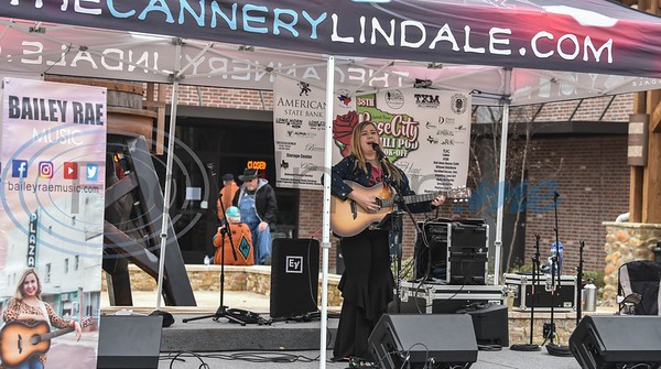 Performer Bailey Rae sings at the 38th Rose City Chili Pod Cook-Off. The event took place at the Texas Music City Grill & Smokehouse in Lindale on Saturday, March 2. (Jessica T. Payne/Tyler Morning Telegraph)