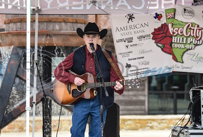 Musician Reece Norris of Terrel performs at the 38th Rose City Chili Pod Cook-Off. The event took place at the Texas Music City Grill & Smokehouse in Lindale on Saturday, March 2. (Jessica T. Payne/Tyler Morning Telegraph)