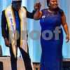 Mr. Jarvis Christian College 2016-2017 Jamar Washington assists Bianca Devora Holley to the stage during the Mr. and Miss Jarvis Pageant at Jarvis Christian College in Hawkins, Texas, on Wednesday, March 22, 2017. The pageant featured personal style, professional attire, an oral presentation, formal wear, and question and answer rounds. (Chelsea Purgahn/Tyler Morning Telegraph)