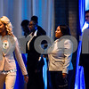 Jenae Jennings walks across the stage during the Mr. and Miss Jarvis Pageant at Jarvis Christian College in Hawkins, Texas, on Wednesday, March 22, 2017. The pageant featured personal style, professional attire, an oral presentation, formal wear, and question and answer rounds. (Chelsea Purgahn/Tyler Morning Telegraph)