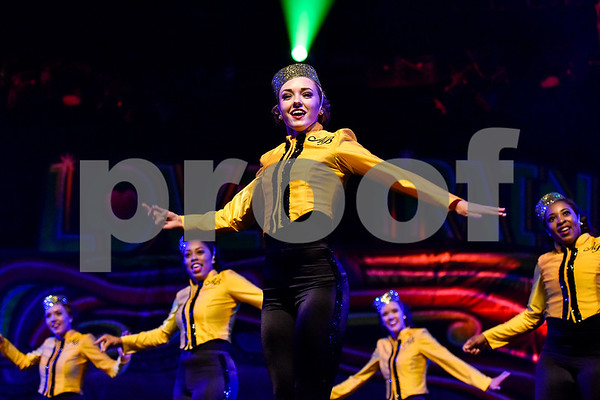 """Tyler Junior College Apache Belles perform during the Apache Belles Spring Show at Tyler Junior College in Tyler, Texas, on Thursday, March 30, 2017. The show's theme is """"Love Train"""" and takes audiences on a musical journey featuring lyrics of emotion of love. (Chelsea Purgahn/Tyler Morning Telegraph)"""
