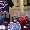 A table at the GlamProm Dress Closet Expo at Cindy's Event Center in Tyler, Texas, on Friday, March 30, 2018. The I Am Beautiful Movement hosted the event to provide free prom dresses and accessories for high school girls. (Chelsea Purgahn/Tyler Morning Telegraph)
