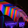 The 35W Bridge in Minneapolis, MN was bathed in colors to celebrate Twin Cities Pride.