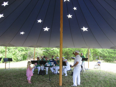 Dartmouth Community Band in a beautiful  Sperry Tent