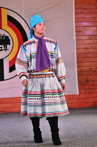 A young Miccosukee in traditional dress.  35th Annual Miccosukee Indian Arts Festival.