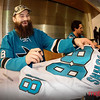 #88 Brent Burns has a blast meeting fans and signing jerseys