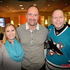 Sharks Head Coach Peter DeBoer (c) poses with fans