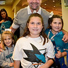 Peter DeBoer (Head Coach) poses with young Shark fans