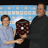 Sarah Walton from Seqwater (Queensland 2014 Young Operator of the Year) with David Cameron from the Queensland Water Directorate