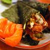 Salmon with California roll