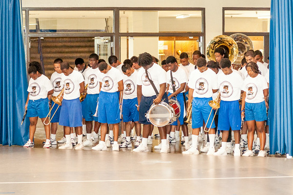 Eward L Graves Summer Camp attendees at TSU are staged to perform end of camp Showcase