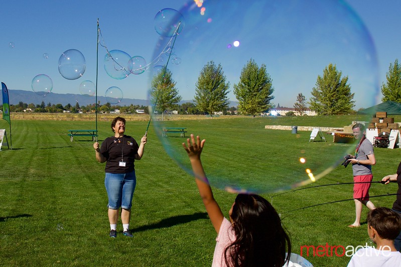 Bubble Fun at the 3rd Annual Martial Cottle Harvest Festival