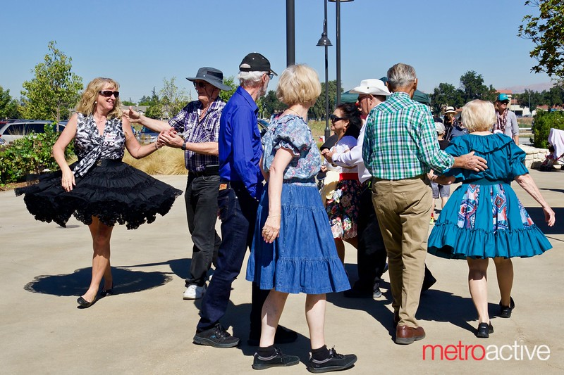 Square Dancing at the 3rd Annual Martial Cottle Harvest Festival