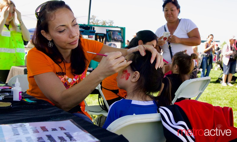 Face painting at 3rd Annual Martial Cottle Harvest Festival