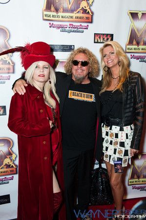 Sally Steele with Sammy Hagar