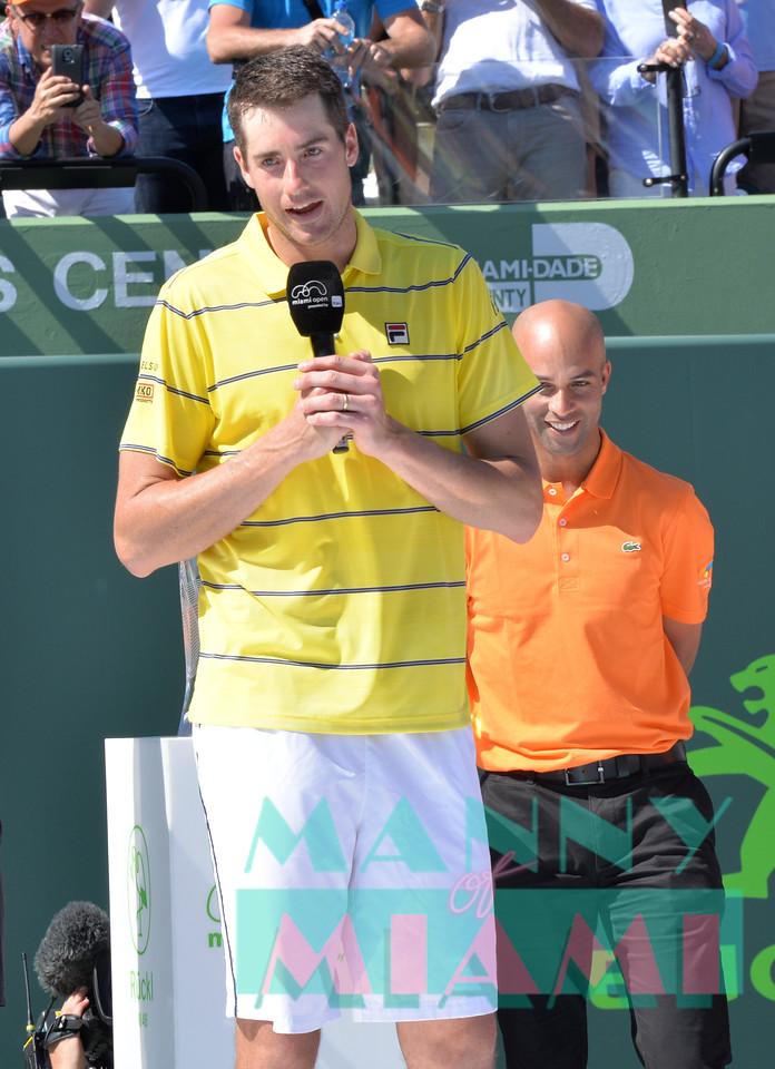 Miami Open Men's Final Alexander Zverev vs. John Isner in Key Biscayne