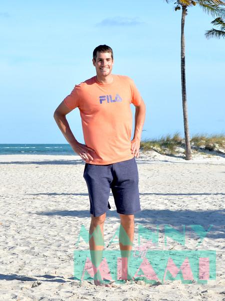 Photo shoot with Miami Open 2018 Men's Final Winner John Isner at Crandon Park