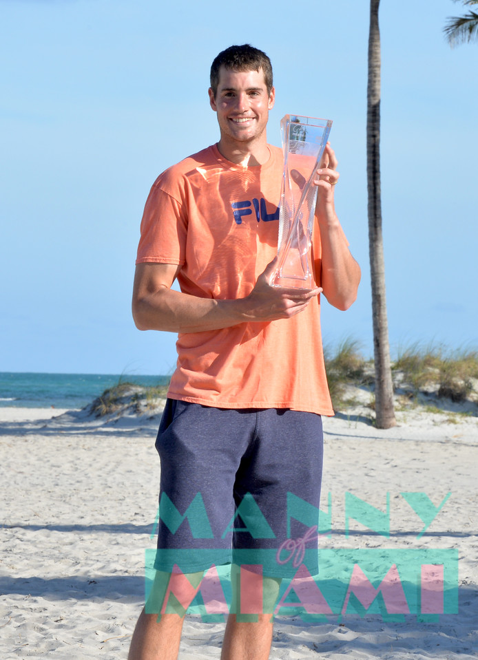 Photo shoot with Miami Open 2018 Men's Final Winner John Isner at Crandon Park