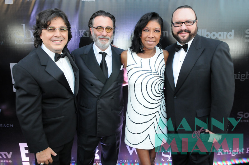 Rudy Perez, Andy Garcia, Natalie Cole and Desmond Child