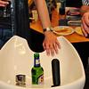 Das Bier im Lavabo