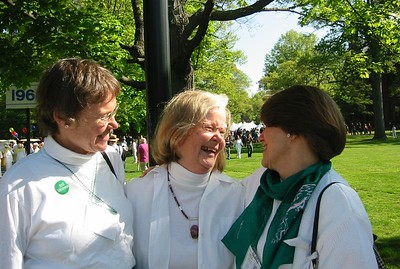 Penny Gill, Acting Dean of Faculty (in center)