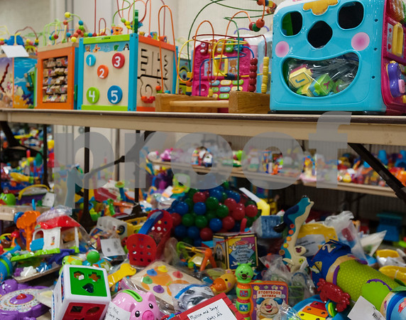 Toys are grouped together at Harvey Convention Center in Tyler on Wednesday April 11, 2018 for the upcoming CCC Sale. The CCC Sale is a consignment sale with items from over 1,400 families including children's clothes, home decor, baby items, bicycles and even furniture. The sale is open April 12-14. Items that don't sell either go back to the owner or are donated to charity.   (Sarah A. Miller/Tyler Morning Telegraph)