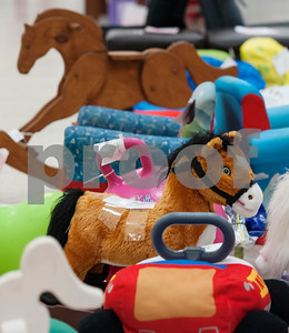 Toys for children are lined up at Harvey Convention Center in Tyler on Wednesday April 11, 2018 for the upcoming CCC Sale. The CCC Sale is a consignment sale with items from over 1,400 families including children's clothes, home decor, baby items, bicycles and even furniture. The sale is open April 12-14. Items that don't sell either go back to the owner or are donated to charity.   (Sarah A. Miller/Tyler Morning Telegraph)