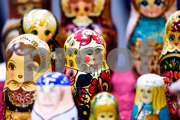 Russian Matryoshka dolls photographed during Tyler Junior College's International Day in Tyler, Texas, on Tuesday, April 18, 2017. The event featured cultural performances and educational experiences for the community. (Chelsea Purgahn/Tyler Morning Telegraph)