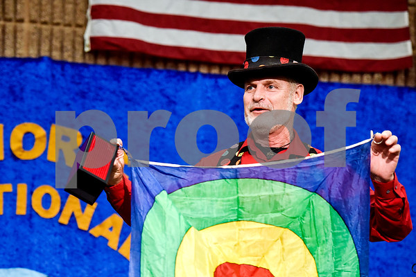 David Gish performs during Tyler Junior College's International Day in Tyler, Texas, on Tuesday, April 18, 2017. The event featured cultural performances and educational experiences for the community. (Chelsea Purgahn/Tyler Morning Telegraph)