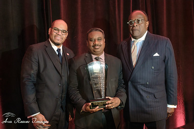 Dr. Hakim J. Lucas, President and CEO ,  Virginia Union University,  and Dr. W. Franklyn Richardson, Chairman, VUU Board of Trustees presents the MLK Lifetime Service Award to Randy Cooper of  the Richmond Heritage Federal Credit Union of Richmond, Virginia,  at the The 41st Annual community Leaders Breakfast honoring the Legacy of Rev. Dr. Martin Luther King, Jr. hosted by Virginia Union University on Friday, January 18, 2019 at the Richmond Marriott