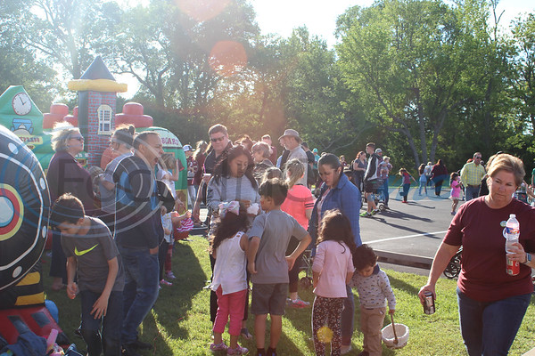 Many people came to enjoy the festivities at the Easter Eggstavaganza at First Baptist Church in Bullard. Sarah Perez/Freelance
