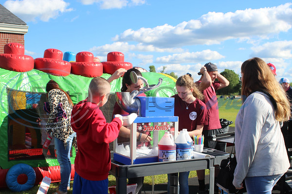 Snow cones and other goodies were served at the Easter Eggstavaganza at First Baptist Church in Bullard. Sarah Perez/Freelance