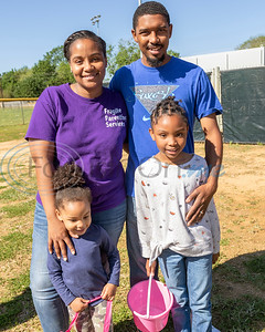 (Back row) Ashley Green and Christian Green, and (front row) Jurnei Green and Justice Green, preparing to hunt Easter Eggs at the 4th Annual Community of Whitehouse Easter Egg Hunt, Saturday,  April  20th,  at th e Whitehouse Sports Complex in Tyler, Tx. (Rick Flack/Freelance)