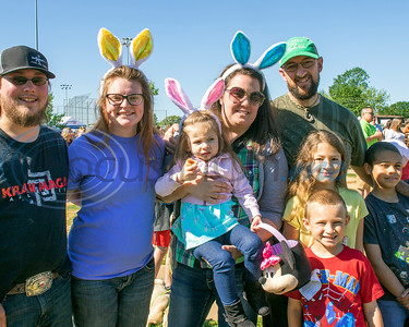 Easter Egg Hunters of all ages at  the 4th Annual Community of Whitehouse Easter Egg Hunt, Saturday,  April  20th,  at the Whitehouse Sports Complex in Tyler, Tx. (Rick Flack/Freelance)