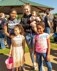 Lots of happy Easter Egg Hunters at the 4th Annual Community of Whitehouse Easter Egg Hunt, Saturday,  April  20th,  at the Whitehouse Sports Complex in Tyler, Tx. (Rick Flack/Freelance)