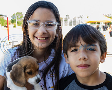 """Young Easter Egg Hunters, with their puppy """"Amira"""" at the 4th Annual Community of Whitehouse Easter Egg Hunt, Saturday,  April  20th,  at the Whitehouse Sports Complex in Tyler, Tx. (Rick Flack/Freelance)"""