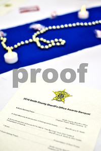 A program photographed during the Smith County Sheriff's Office Awards Banquet at the Rose Garden Center in Tyler, Texas, on Tuesday, April 25, 2017. The banquet honored outstanding members of the staff for their contributions in 2016. (Chelsea Purgahn/Tyler Morning Telegraph)