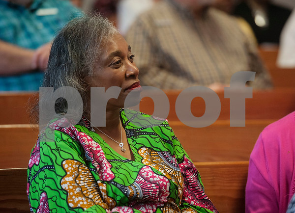 Smith County Commissioner JoAnn Hampton attends an event honoring the life and legacy of Dr. Martin Luther King, Jr. on Wednesday April 4, 2018 at Greater New Pleasant Hill Missionary Baptist Church in Tyler. King was assassinated April 4, 1968 at a hotel in Memphis, Tennessee.   (Sarah A. Miller/Tyler Morning Telegraph)