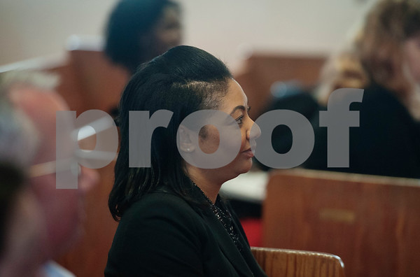 Attorney Kristina Ross from the law firm Beard and Harris attends an event on Wednesday April 4, 2018 at Greater New Pleasant Hill Missionary Baptist Church in Tyler honoring the life and legacy of Dr. Martin Luther King, Jr. King was assassinated April 4, 1968 at a hotel in Memphis, Tennessee.   (Sarah A. Miller/Tyler Morning Telegraph)