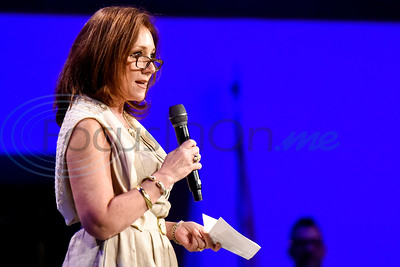 Liz Ballard speaks during the re:new Gathering ahead of CityFest East Texas, which will be held in October, at Green Acres Baptist Church in Tyler, Texas, on Thursday, April 4, 2019. (Chelsea Purgahn/Tyler Morning Telegraph)